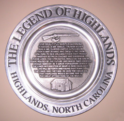 Plate Cover Image. Title: The Legend of Highlands